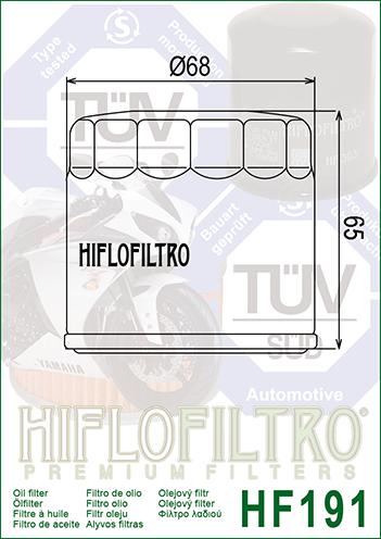 Olejový filtr HF191 - Peugeot Metropolis